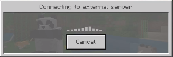 Connect to external minecraft server