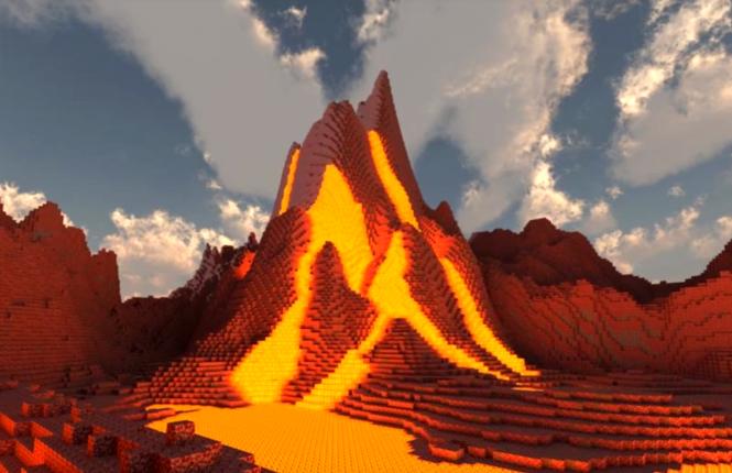 Minecraft Ideas Volcano