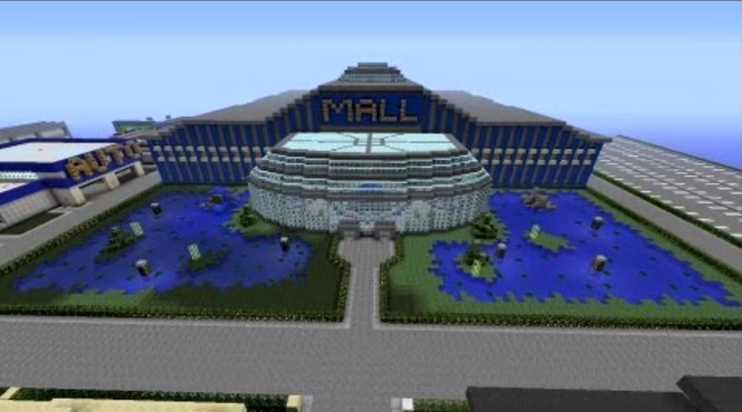 Download Inside Mall Minecraft Gif
