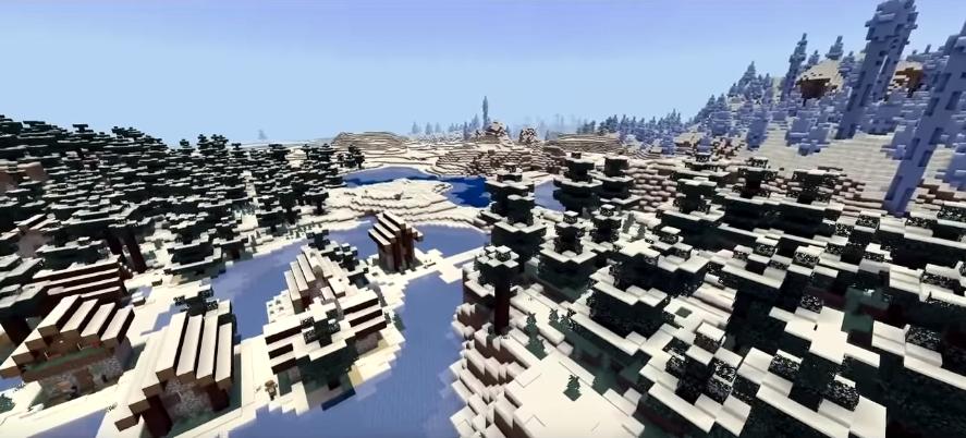 Minecraft PE Seeds - Ice Village