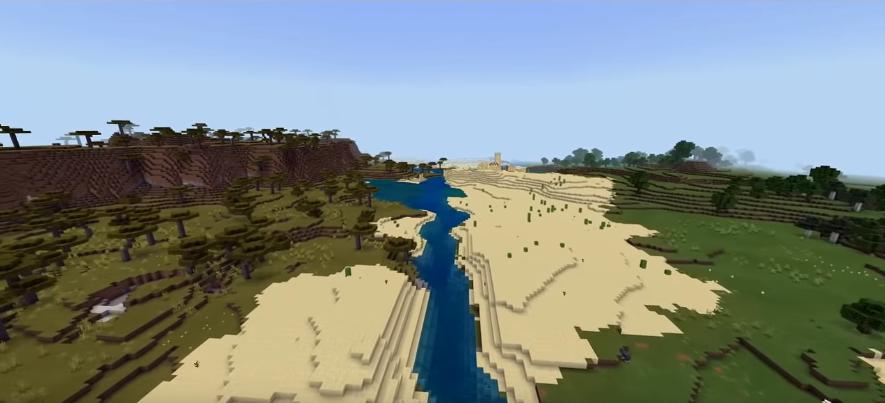 Minecraft Pocket Edition Seeds - Five Biomes