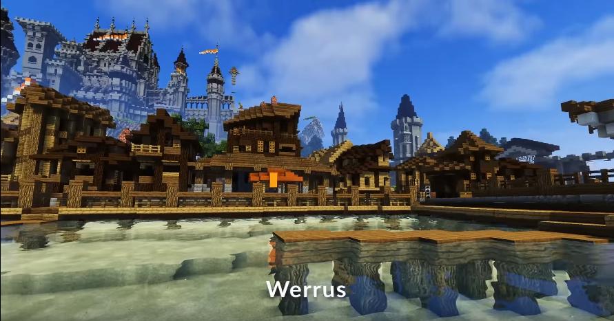 Weerus shader in Minecraft