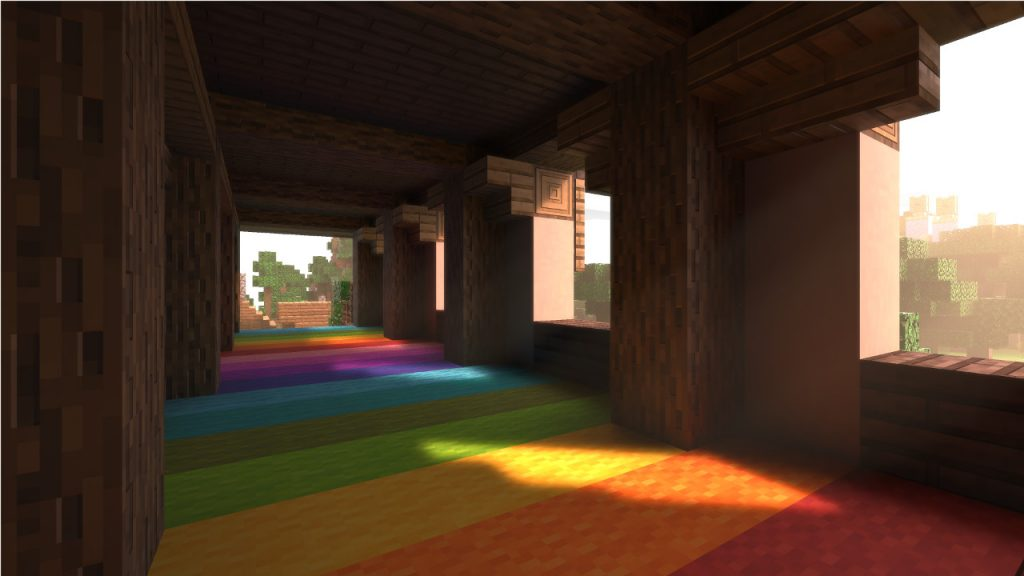 Minecraft with ray tracing on