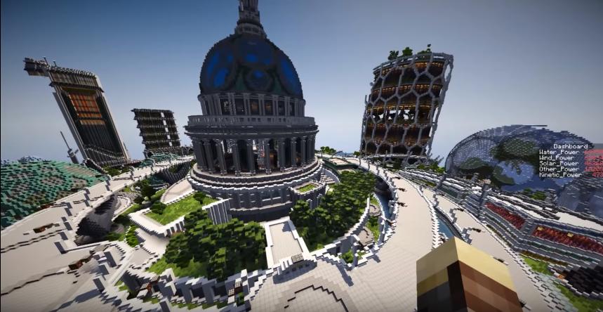 Minecraft city maps - Climate Hope City