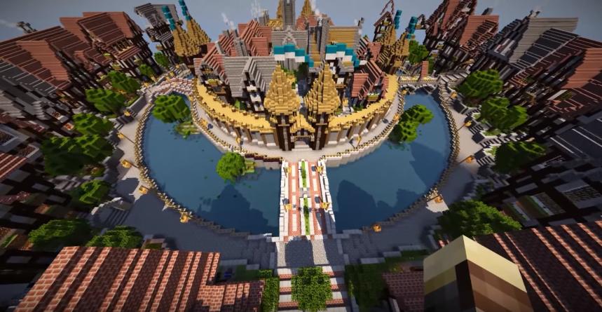Minecraft city maps - Medieval City
