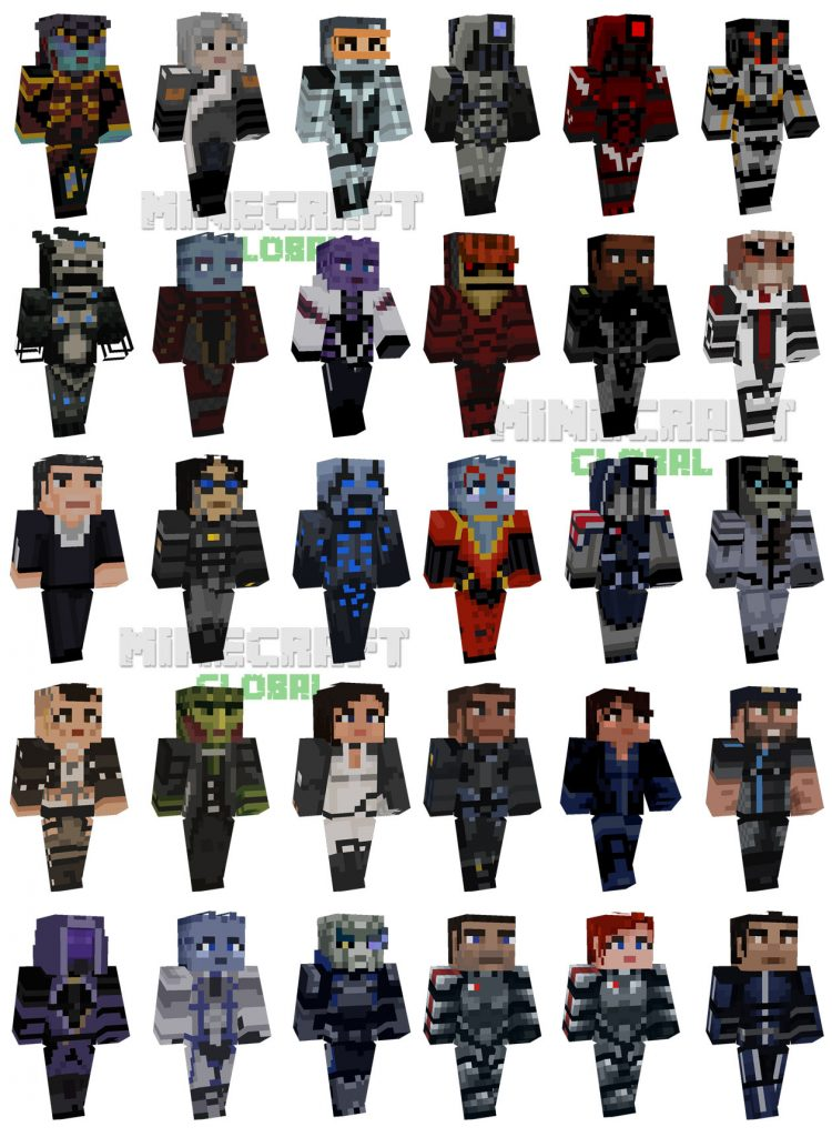 Minecraft Mass Effect Skins