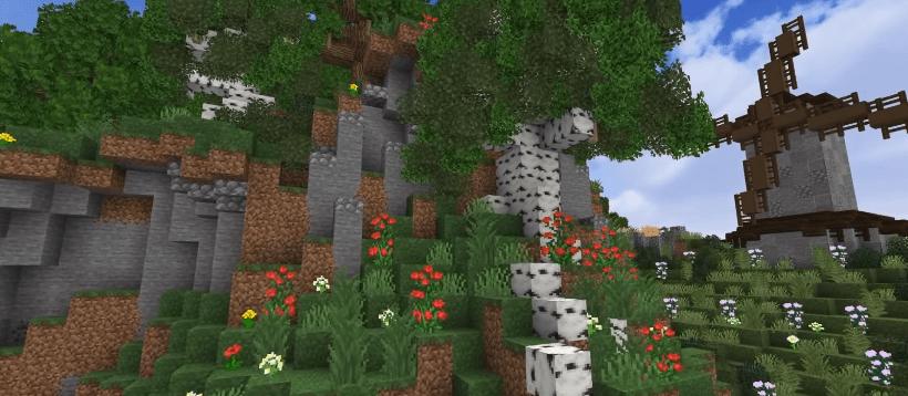 Ideas to build in Minecraft - birch tree