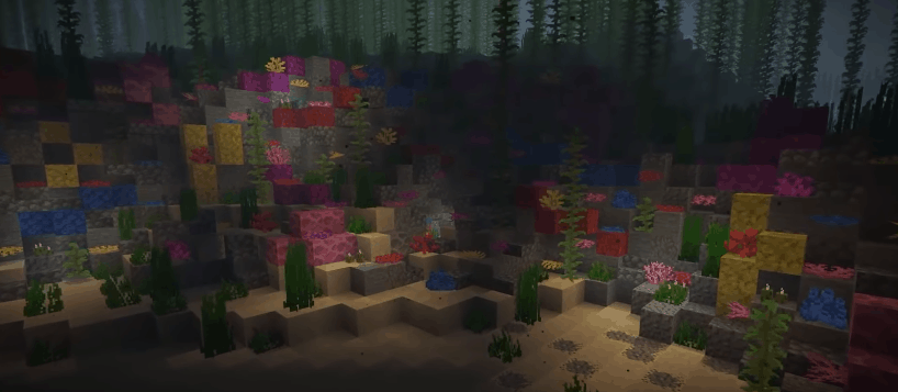harvesting coral