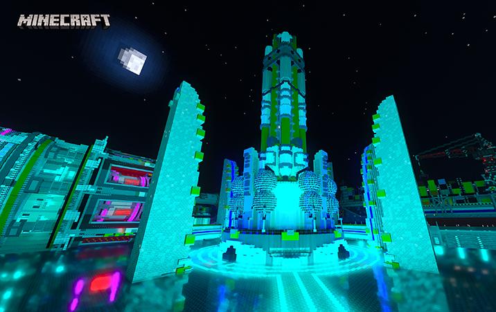 Minecraft RTX Beta Map - Neon District