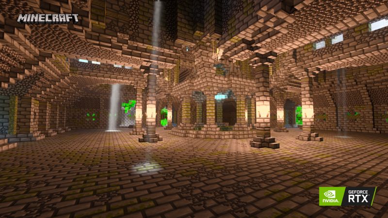 Minecraft with RTX Light and Shadows
