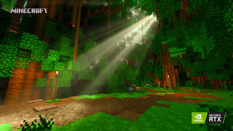 Minecraft RTX reflections