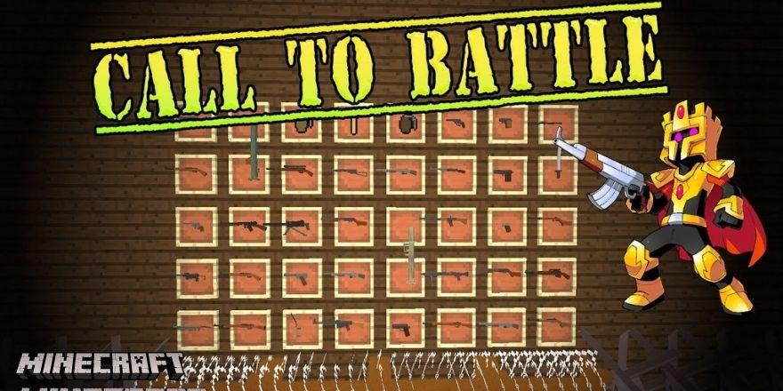Call to battle gun mod Minecraft