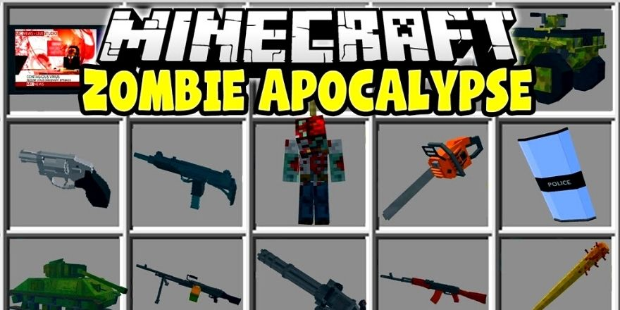 Zombie apocalypse gun mod Minecraft